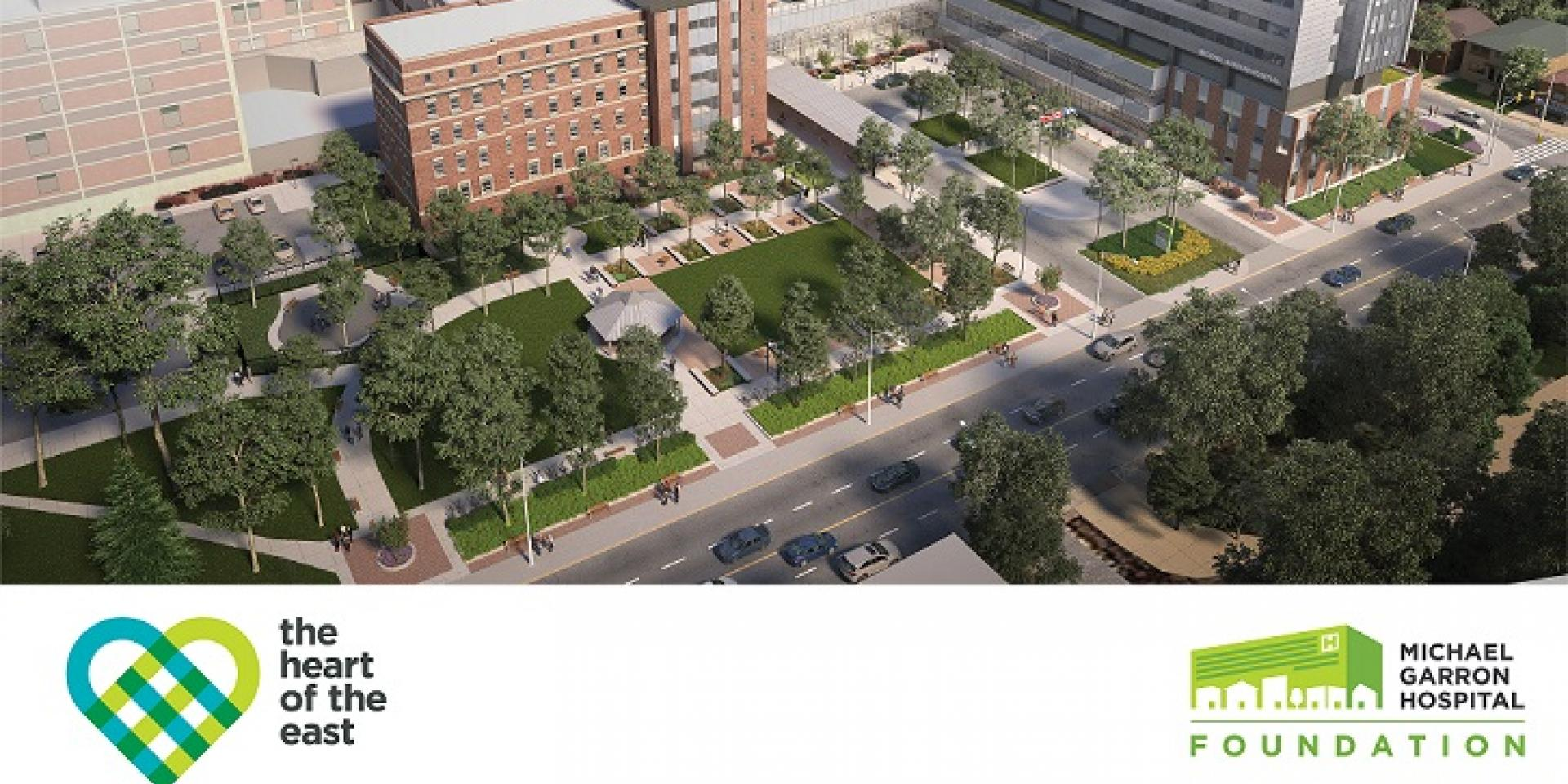 Architect's renderings of the new hospital campus