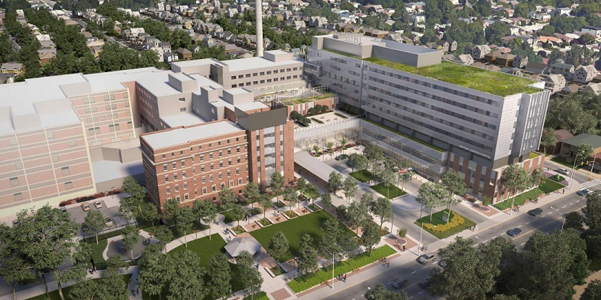 Architect's rendering of the new Michael Garron Hospital campus