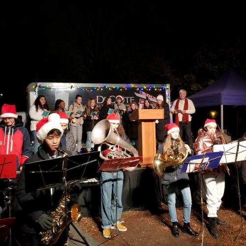 Band performing at Light up the Beach 2018