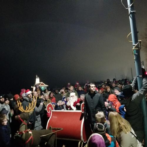 Santa at Light up the Beach 2018