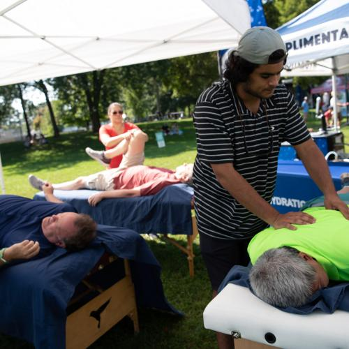 massage tent at HOTE Community Festival