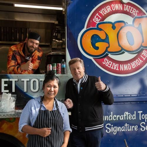 Food truck and John Tory
