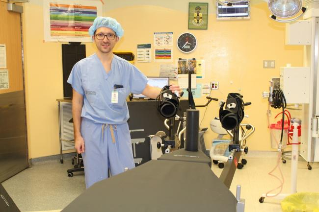Dr. Dmitry Tsvetkov with Hana surgical table